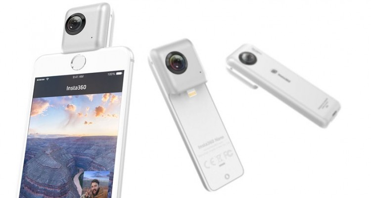 iPhoneに装着する360度カメラ「Insta360 Nano」が国内で発売