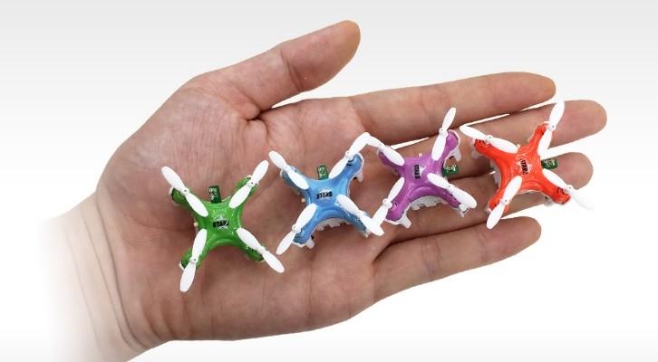 指先に乗ってしまうほど小さなドローン「CX-Stars」