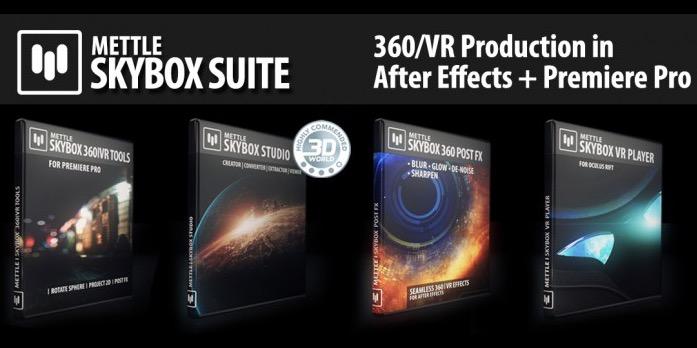360度動画制作のための、AEプラグイン・スクリプトのセット「SkyBox Suite Bundle」