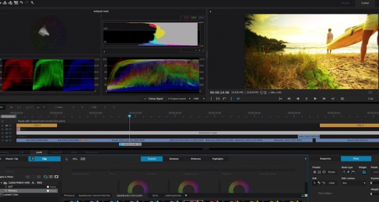 Adobeのカラーグレーディングツール「SpeedGrade」。AEやプレミアとシームレスな連携が可能