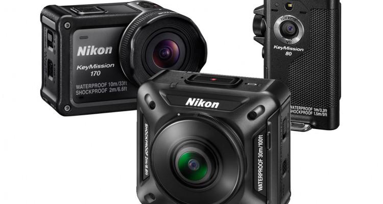 ニコン初のアクションカメラ「KeyMission」シリーズ、3機種が登場