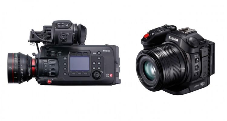 Canonがシネマカメラの最新フラッグシップ機「EOS C700」と、小型で4K撮影可能な「XC15」を発表