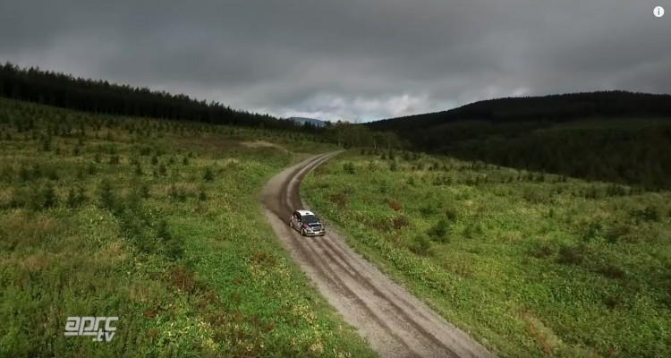 ラリー北海道の空撮動画。大自然を疾走するラリーカーがカッコいい!