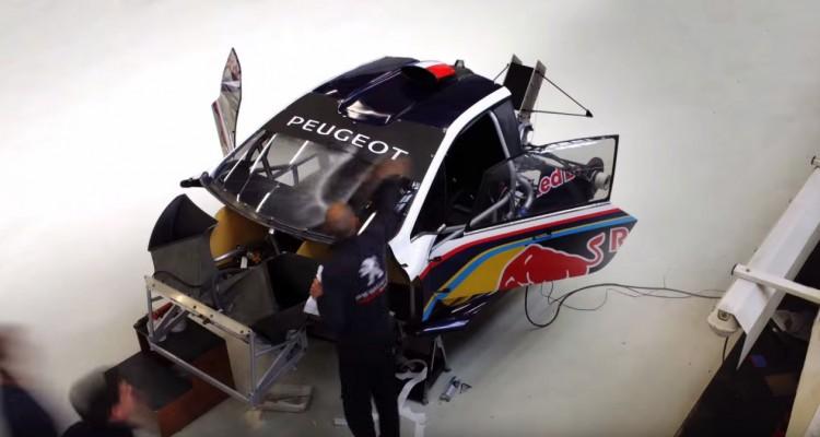 プジョーのレーシングカー組み立て風景をタイムラプスで。