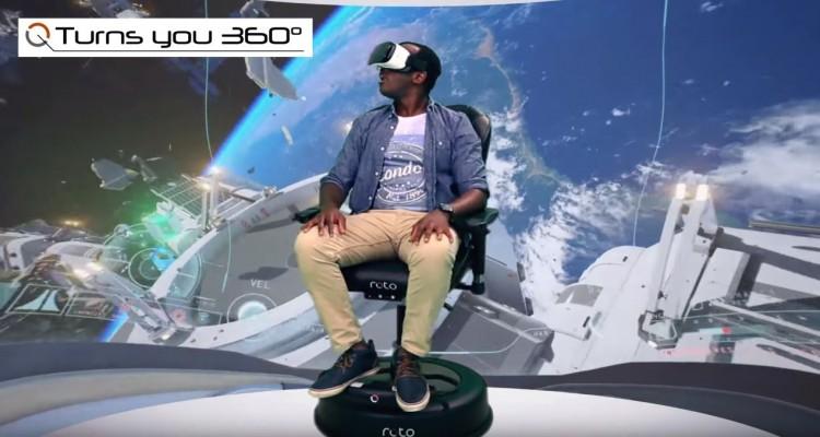 体感するアクセサリー!VR機器と連動し、回転する椅子「Roto VR Chair」が登場