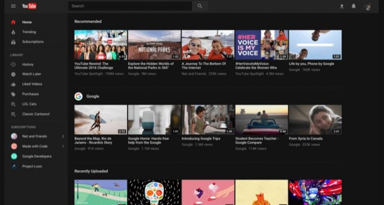 ダークモード追加で目に優しい!デスクトップ版Youtubeの新デザインが利用可能に!
