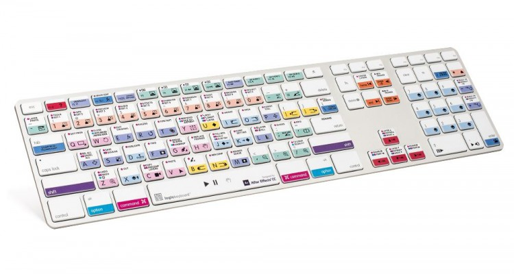 ショートカット網羅。LogickeyboardからAfter Effects専用キーボードの最新版が登場!