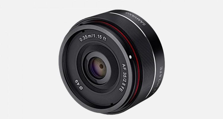 ソニーEマウント、フルサイズ対応!Samyangが広角単焦点レンズ「AF35mm F2.8 FE」を発表!