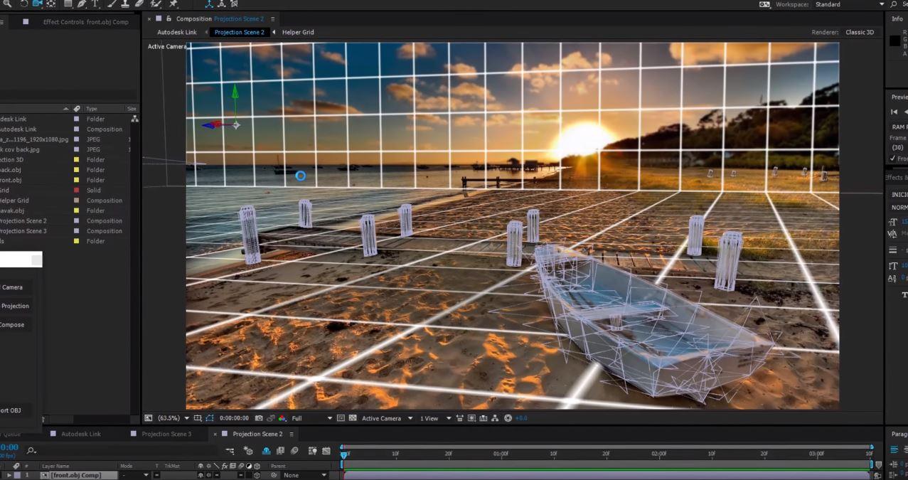 Projection 3D 03
