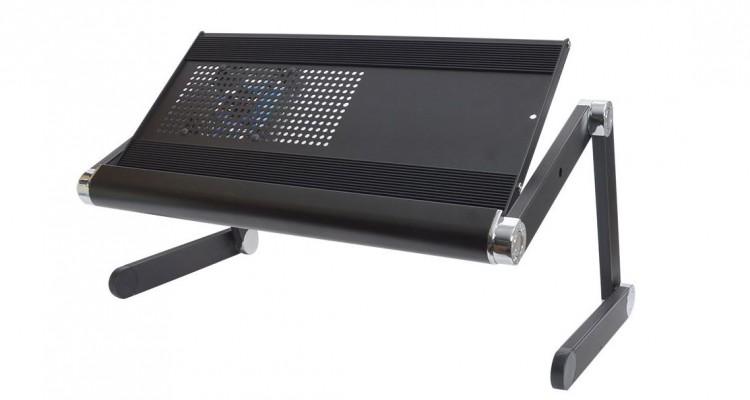 冷却用ファンとサイドテーブルを装備!サンコーの「ゴロ寝デスク」が復刻!