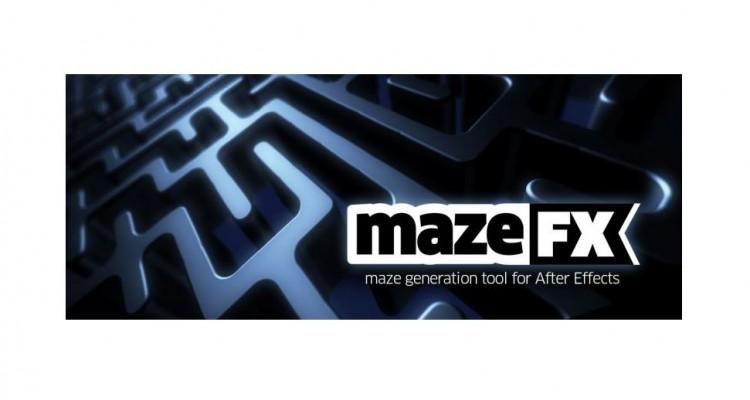 様々な迷路を簡単に作れるAfter Effectsプラグイン「mazeFX」!
