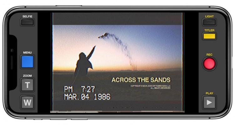 VHSテープのように映像を加工するスマホアプリ「VHS Camcorder」!